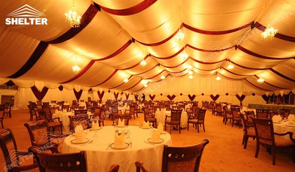 SHELTER Wedding Hall - High Peak Tents Party Marquee - Luxury Reception Tent - Outdoor Catering Venue -169