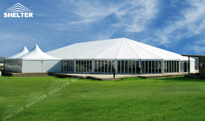 White Marquee Glass Wall Tent House Luxury Wedding Tent
