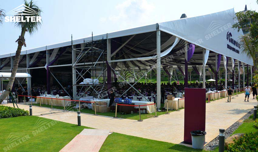clear span tents - large party marquee for sale - luxury wedding tent - event tents - shelter tent-53