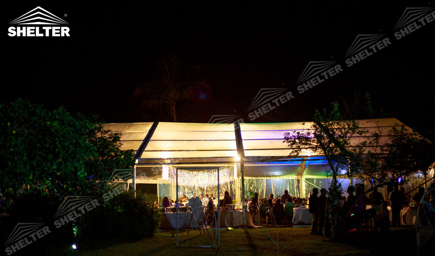 clear top tent - large party marquee for sale - luxury wedding tent - event tents - shelter tent-2