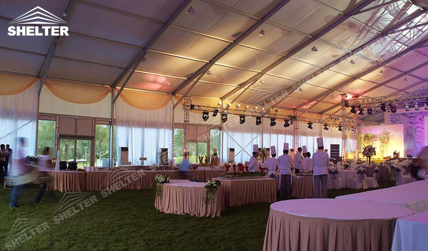 clear span marquee - large party tent for sale - luxury wedding marquees - event tents - shelter tent-87
