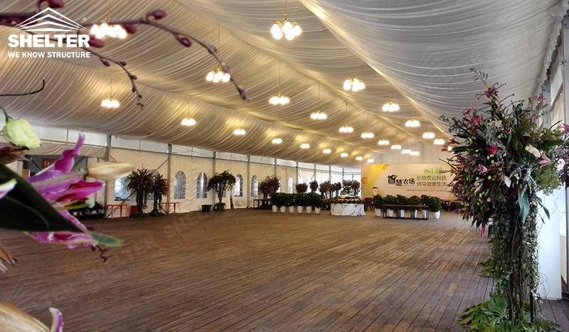 Large Wedding Marquee-Mixed Party Tent-High Peak Tent