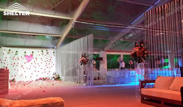 SHELTER clear span tent Wedding Hall - Party Marquee - Luxury Reception Tent - Outdoor Catering Venue -66