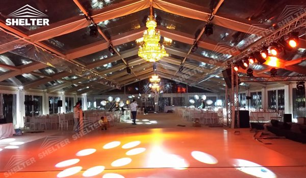 SHELTER clear span tent Wedding Hall - Party Marquee - Luxury Reception Tent - Outdoor Catering Venue -70