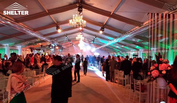 SHELTER clear span tent Wedding Hall - Party Marquee - Luxury Reception Tent - Outdoor Catering Venue -71