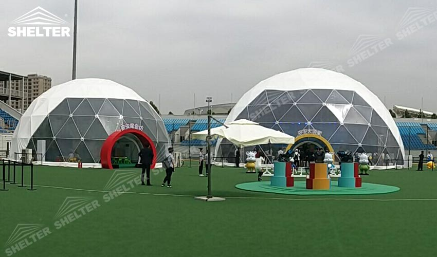 & Geodomes with PVC Fabric - Tent House in Delhi - Luxury Wedding Tent