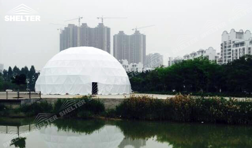 half clear transparent geodesic dome -Shelter geodesic dome tents for sale-10m-20m dome 14