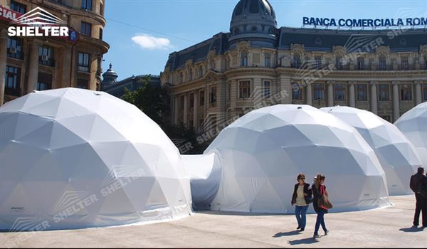 SHELTER Geodesic Domes - Large Dome Tent - Hemisphere Tents - Event Geodome for Sale - Wedding Marquee - Party Marquees -148