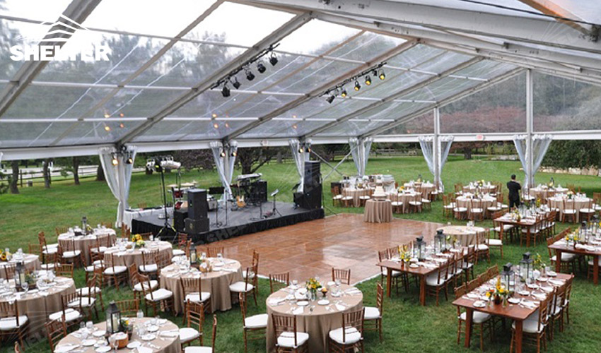Outdoor wedding venue with luxury decoration wedding for Pictures of wedding venues decorated
