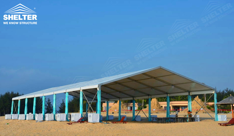 Large Canopy Tents on Beach u2013 Wedding Reception Tent : beach canopy tent - memphite.com