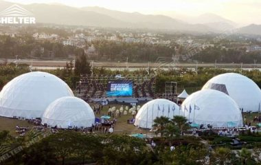 SHELTER Geodesic Domes - Dome Tent for Sale - Hemisphere Tents - Event Geodome for Sale - Wedding Marquee - Party Marquees -24