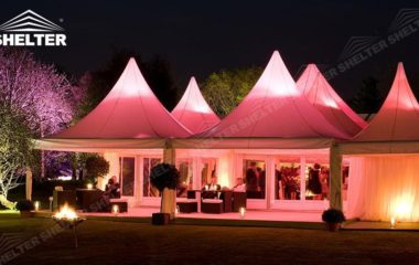 SHELTER High Peak Marquee - Top Tent - Wedding Canopy Tent - Party Gazebo - Transparent Wedding Hall -1
