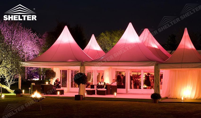 SHELTER High Peak Marquee - Top Tent - Wedding Canopy Tent - Party Gazebo - Transparent & Luxury Wedding Canopy Tent Sale - Parties Gazebo Marquee - Luxury ...