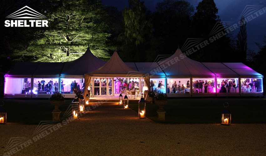 SHELTER Wedding Canopy - Luxury Party Gazebo - High Peak Tent - Top Marquee