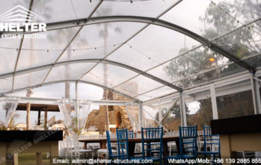 gathering tent Clear top marquee with arch roof (2)