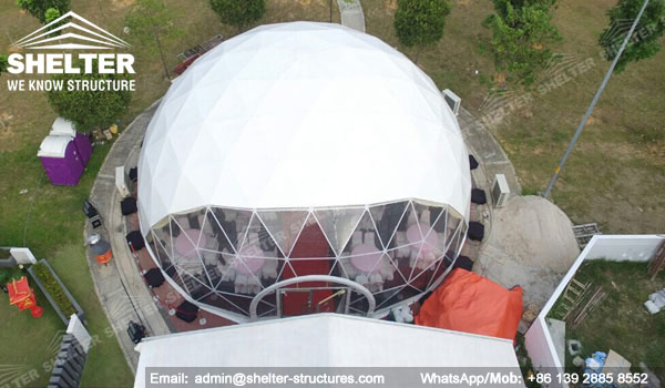 Shelter Dia. 15m Sphere Dome Tent - Dome Wedding Venue - Geodesic Tents for Catering -14