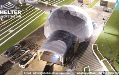 Shelter Dia. 15m Sphere Dome Tent - Dome Wedding Venue - Geodesic Tents for Catering -3