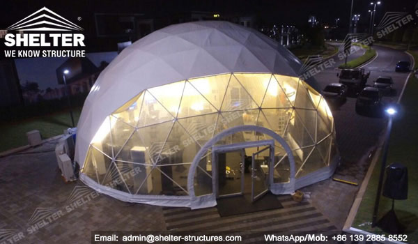 Shelter Dia. 15m Sphere Dome Tent - Dome Wedding Venue - Geodesic Tents for Catering -7