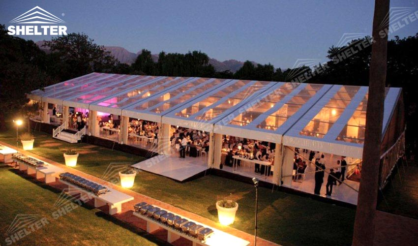 Clear Top Tent Large Party Marquee For Luxury Wedding Event Tents